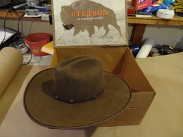 STETSON BUFFALO FELT 4XXXX HAT  57  7 1/8  COWBOY HAT BARELY USED N THE ... - $59.99