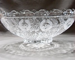 Kristal Zajecar Oblong Scalloped 11 inch Crystal Fruit Bowl Clear and Frosted  - $6.689,66 MXN