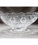 Kristal Zajecar Oblong Scalloped 11 inch Crystal Fruit Bowl Clear and F... - $400.00