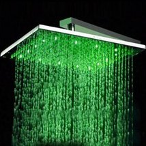 Factory drop-ship 12 inch Chrome Brass Square LED Rainfall Shower Head (... - $153.40