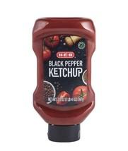 HEB black Pepper Ketchup 20oz (3 pack) bundle. burgers, fries, hot dogs,... - $34.62