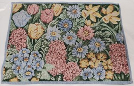 "Set of 4 Tapestry Placemats, apprpx. 13"" x 19"", FLOWERS, MULTICLOR FLORA... - $19.79"