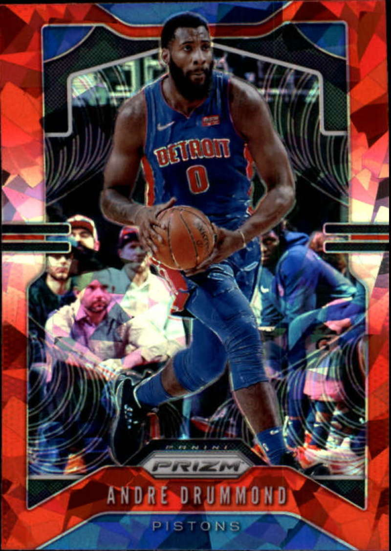 Primary image for 2019-20 Panini Prizm Prizms Red Ice #92 Andre Drummond Detroit Pistons