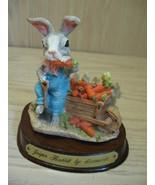 Leonardo Figurine Jasper Rabbit Little Nook Village LN-04  1988 - $5.95