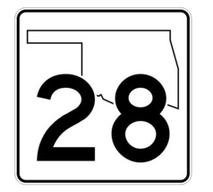 Oklahoma State Highway 28 Sticker Decal R5582 Highway Route Sign - $1.45+