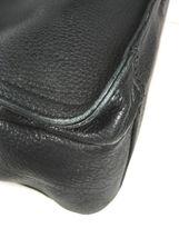 Fossil Vintage Black Leather Multi Pocket Shoulder Bag Brass Tone Hardware image 12