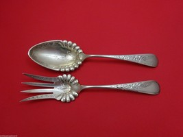 Engraved #1 by Wood & Hughes Sterling Silver Salad Serving Set 2pc Bright-Cut - $274.55
