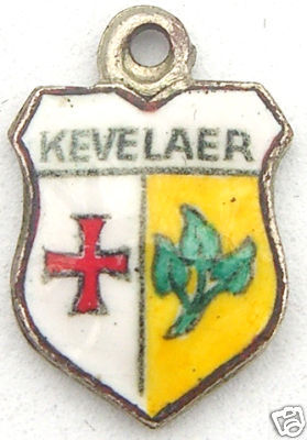 KEVELAER, GERMANY - Vintage Silver Travel Shield Charm