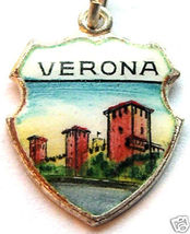 VERONA, ITALY Castelvecchio Bridge Travel Shield Charm - $14.95