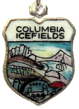 COLUMBIA ICEFIELDS CANADA 5 Silver Travel Shield Charm