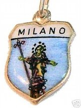 MILANO, ITALY (MILAN) - Enamel Travel Shield Charm WOW! - $24.95