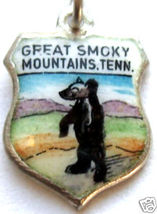 GREAT SMOKY MOUNTAINS TENNESSEE CUB Travel Shield Charm - $24.95