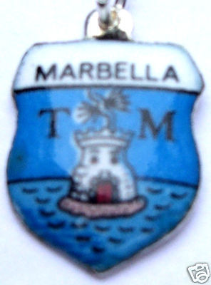 MARBELLA, SPAIN ESPANA SEAL Vintage Travel Shield Charm