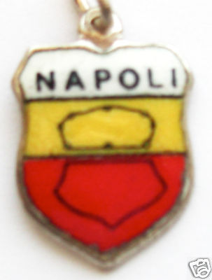 NAPOLI, ITALY NAPLES Coat of Arms Travel Shield Charm
