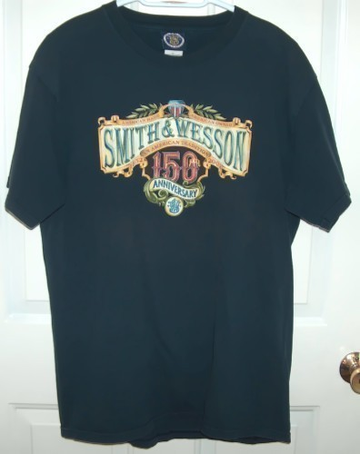 Primary image for Smith & Wesson 150th Anniversary Tshirt