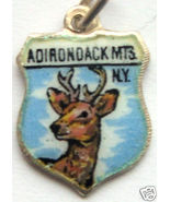ADIRONDACK MTS NEW YORK Deer Silver Travel Shie... - $24.95