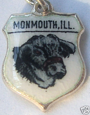 MONMOUTH, ILLINOIS BEEF FEST Silver Travel Shield Charm