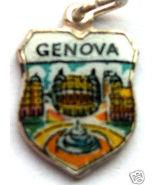 GENOVA, ITALY Genoa Fountain Silver Travel Shield Charm - $19.95