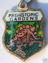 PREHISTORIC GARDENS OREGON Silver Travel Shield Charm - $24.95