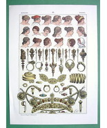 ROMAN WOMEN Hair Styles & Jewelry Headgear - COLOR Antique Print - $17.55