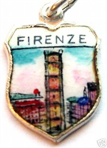 FIRENZE ITALY Florence GIOTTO TOWER Travel Shield Charm