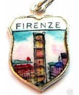 FIRENZE ITALY Florence GIOTTO TOWER Travel Shield Charm - $19.95
