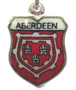 ABERDEEN SCOTLAND 1 Vintage Silver Travel Shield Charm - $29.95