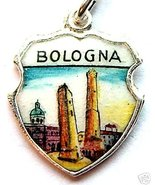 BOLOGNA ITALY - TWO TOWERS Silver Travel Shield... - $29.95
