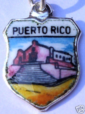 PUERTO RICO Church Vintage Travel Shield Charm RARE!