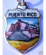 PUERTO RICO Church Vintage Travel Shield Charm ... - $24.95