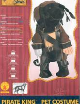Pirate King Pet Costume - Size Medium (14-16 inches) - $11.59