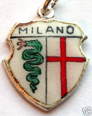 MILANO, ITALY MILAN - Silver Travel Shield Charm