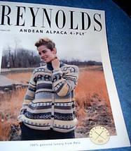 Ladies Knit Peruvian Cardigan Pattern Reynolds 320 - $3.00