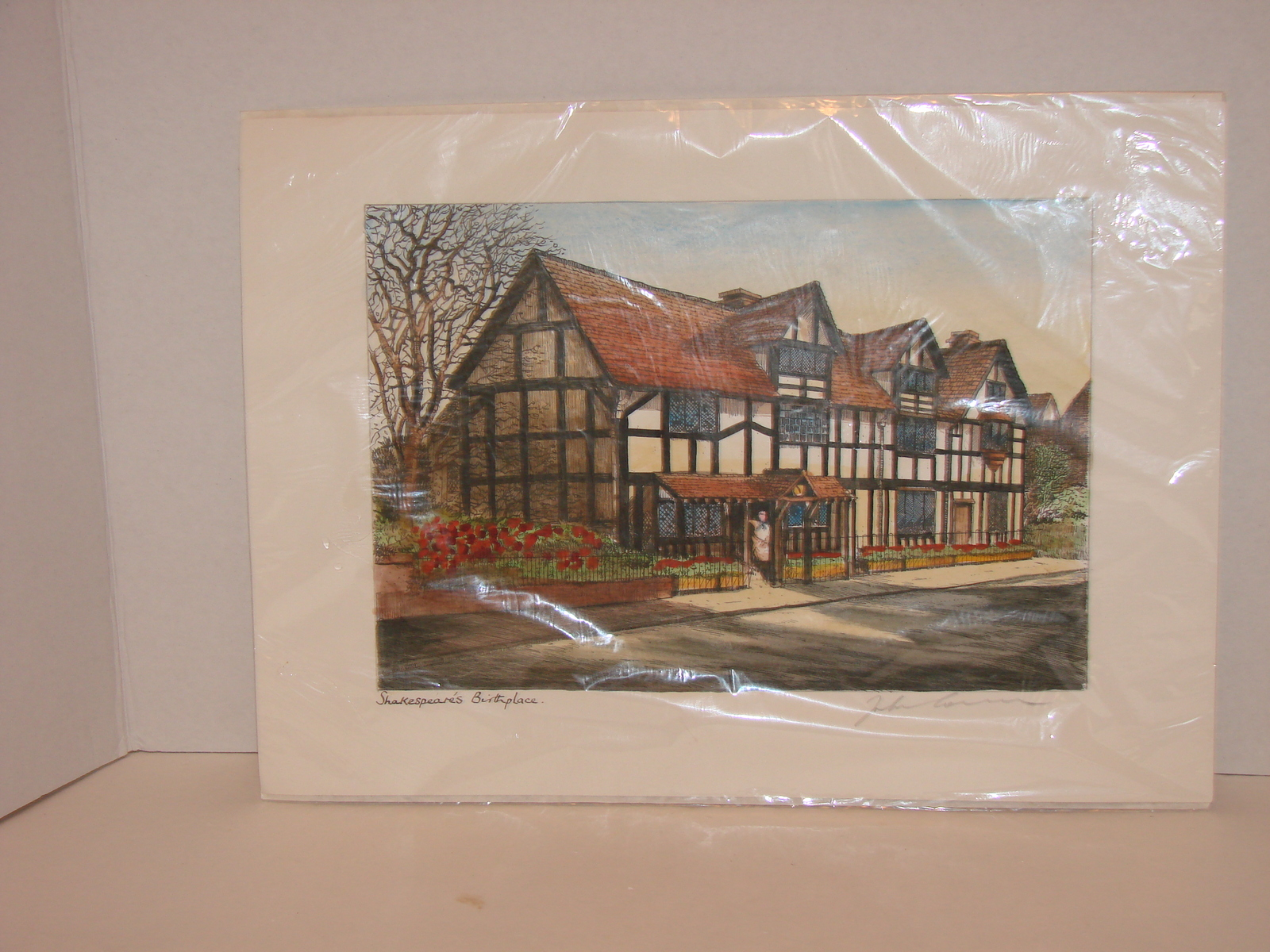Primary image for Original Signed Etching :Shakespeare's Birthplace  Print
