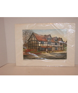 Original Signed Etching :Shakespeare's Birthplace  Print  - $9.99