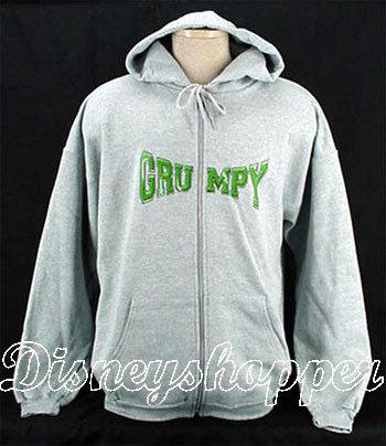 Grumpy sketch zip hoodie 1