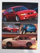 2000 Ford Mustang SVT Cobra Sheet Brochure NOS 00 - $5.68