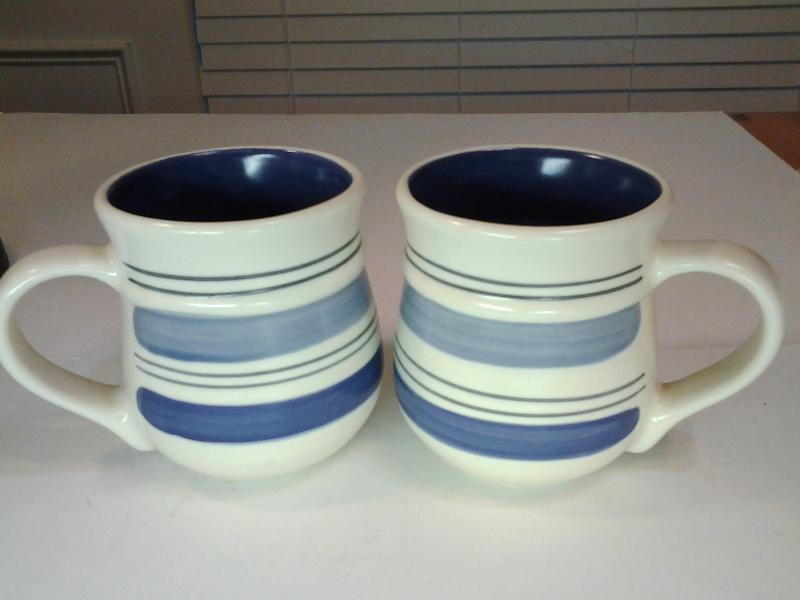 c944b090934 Pfaltzgraff (2) Rio Blue/White Coffee Mug and 50 similar items