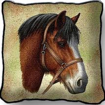 """17"""" Large CLYDESDALE HORSE Pillow Cushion Tapestry - $32.50"""