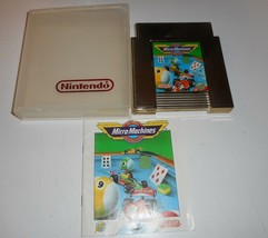 Vintage Original Nintendo Nes 1991 Micro Machines Gold Video Game & Manual - $45.82