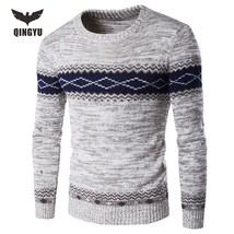 Pull Homme 2016 O-Neck Sweaters Knitted Long Sleeve Men Sweater - $25.20+