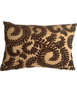 Pillow Decor - Brackendale Ferns Brown Rectangular Throw Pillow - $49.95