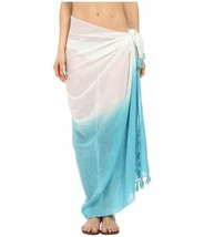 Echo Design Women's Ombre Tassel Pareo Pacific Teal Scarf One Size - €37,66 EUR