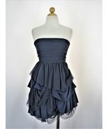 Mini Dress Steampunk Alice Olivia Silk Blend Tiered Strapless Mesh Pirat... - $67.32