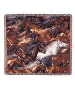 50x60 Horse Western Tapestry Throw Afghan Blanket - $42.50