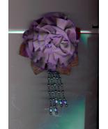 Big Purple/Mauve Flower Pin with Beads  - $10.00