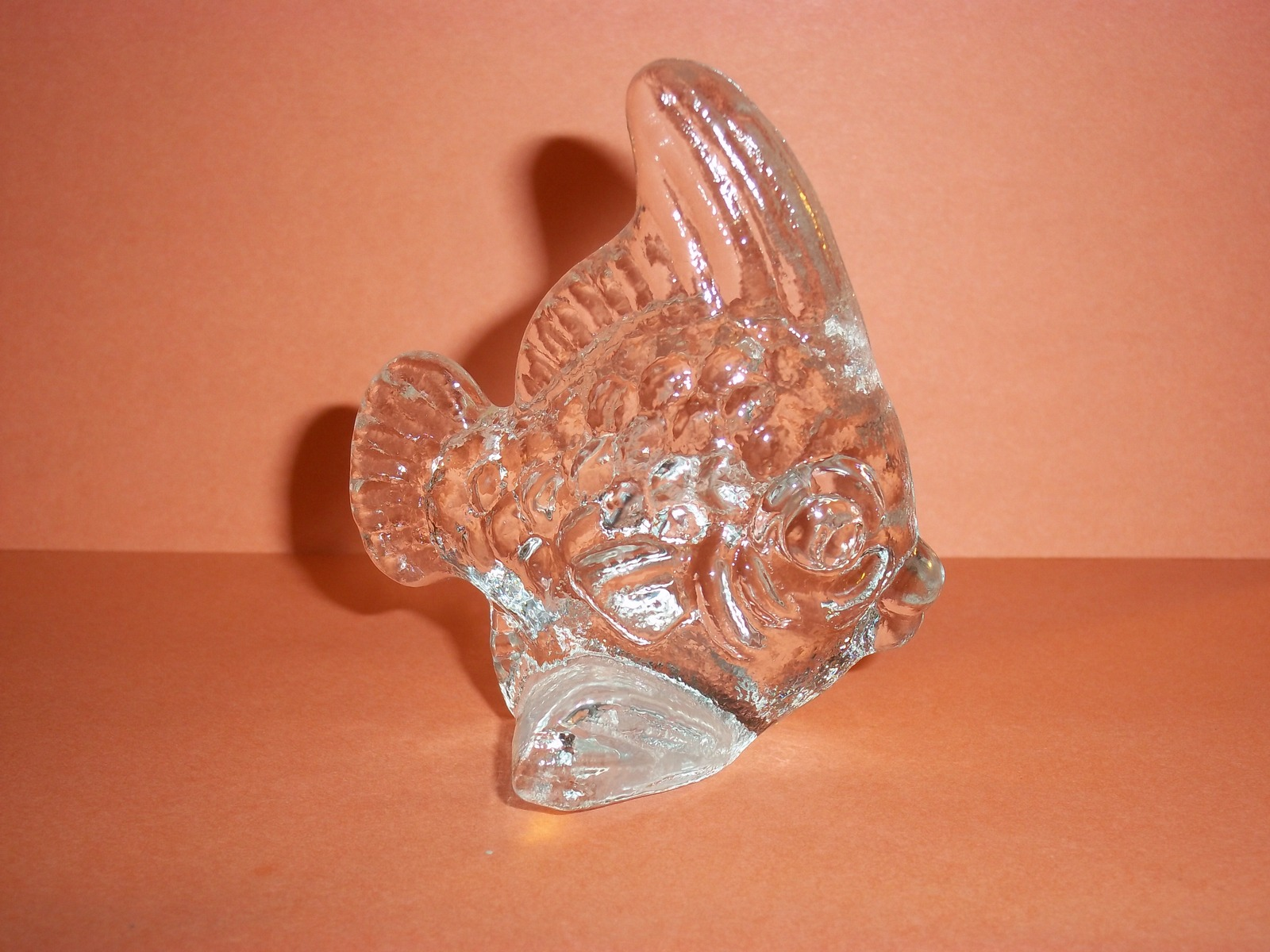 Retired Goebel Kristallglas Crystal Blowfish Seashore Collection 1982 Paper Wt