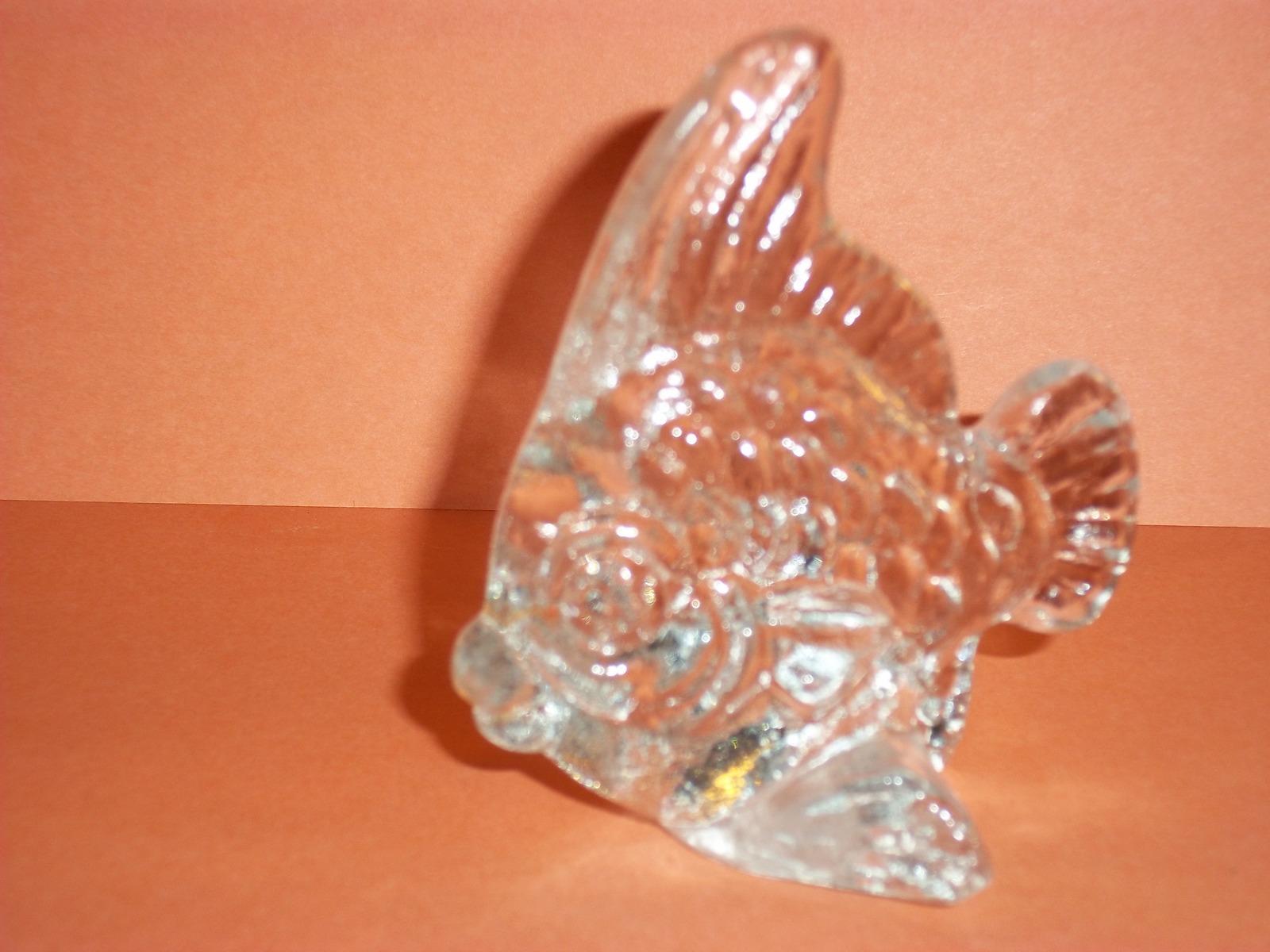 Retired Goebel Kristallglas Crystal Blowfish Seashore Collection 1982 Paper Wt