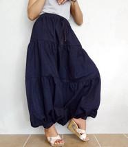 Harem Ruffle Pants Unique Style Peasant Boho Denim Cotton Medium weight ... - $97.00