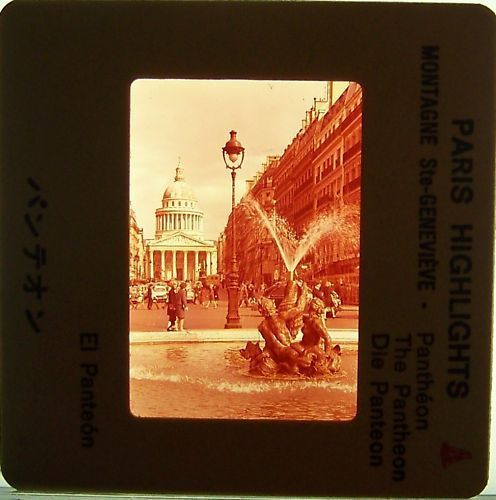 Primary image for Paris Highlights 1960s vintage slide photo The Pantheon